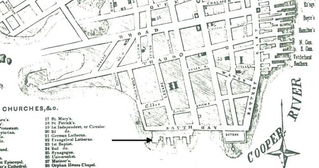 07 Gibbes Wharf And City Market Halsey Map Preservation Society