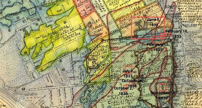 Northbay Fire Map.The 1830s A Decade Of Fire Halsey Map Preservation Society Of